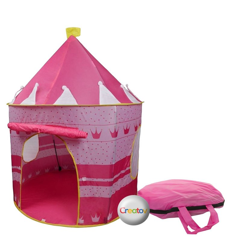 Children Play Tent Girls Pink Castle for Indoor/Outdoor Use Foldable with Carry Case  sc 1 st  Walmart : playhouse tent for girls - memphite.com