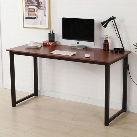 54 Inch Mobile Computer Desk (Ktaxon Writing Computer Desk Modern Simple Study Table ,55.12