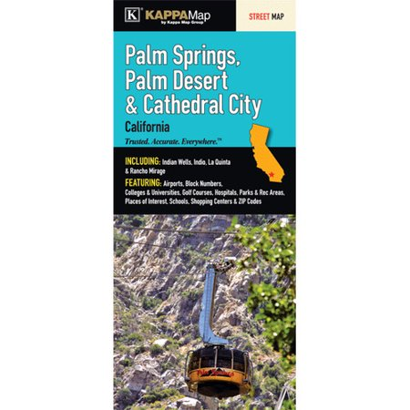 Universal Map Palm Springs/Palm Desert and Cathedral City Fold Map (City Of Palm Desert)