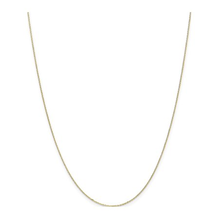 10k Yellow Gold .8mm D/C Cable Chain - image 5 of 5