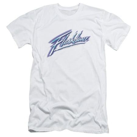 Flashdance 1983 Jennifer Beals Romantic Drama Dance Movie Logo Adult T-Shirt (Jennifer Aniston White T Shirt)