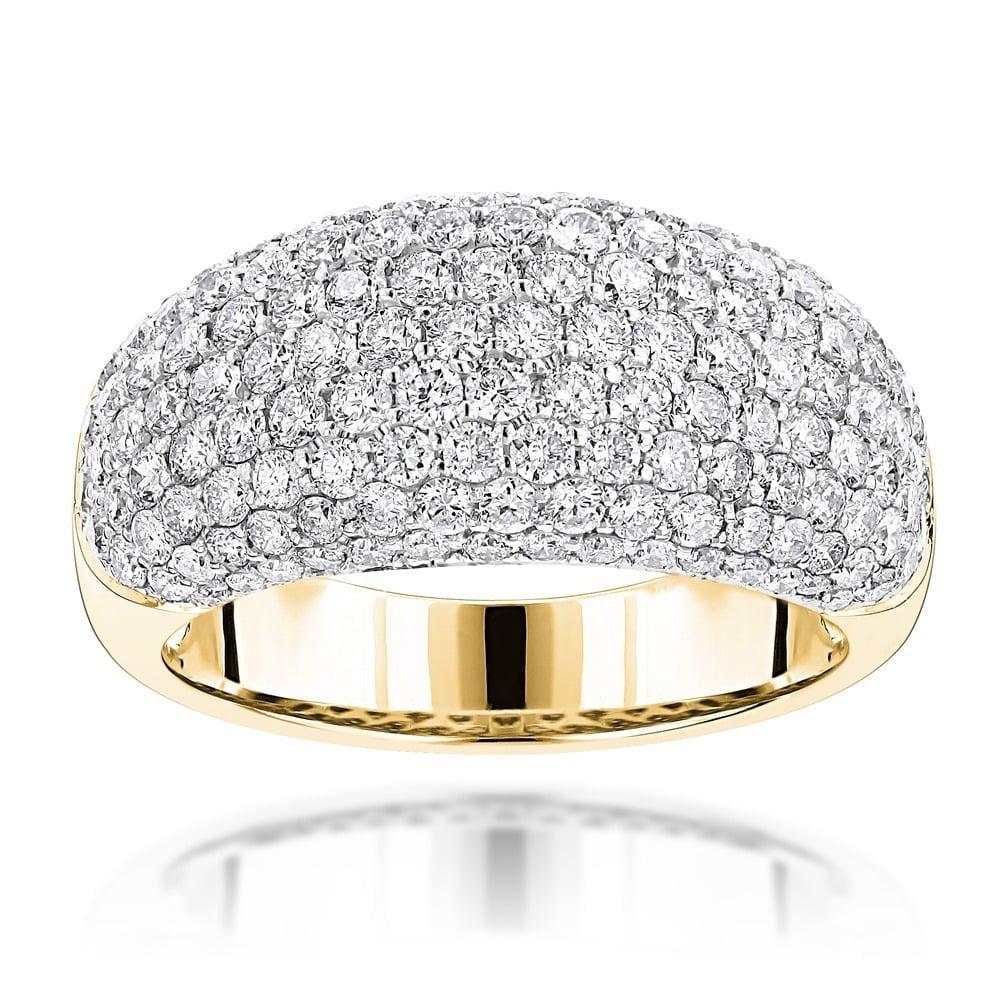 Luxurman  14k Gold 2 3/4ct TDW Pave Round Diamond Band