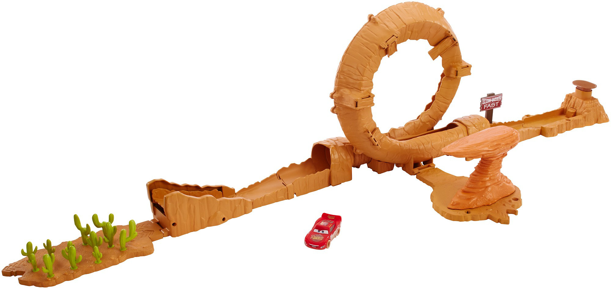 Disney Pixar Cars 3 Willy's Butte Transforming Track Set by Mattel