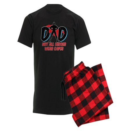 896829c9 CafePress - CafePress - Dad: Not All Heroes Wear Cape - Men's Dark Pajamas  - Walmart.com