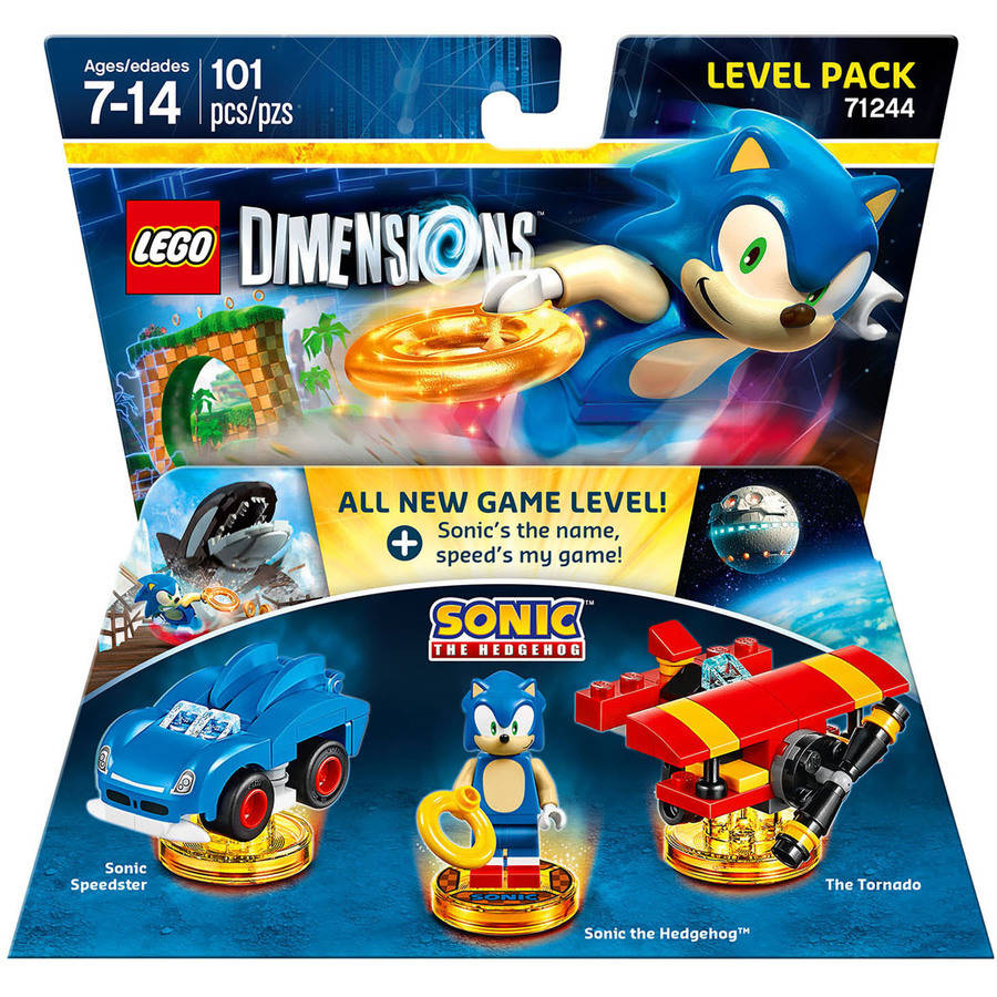 Sonic The Hedgehog Level Pack Lego Dimensions Toy Play Kids Game Warner Home Vid