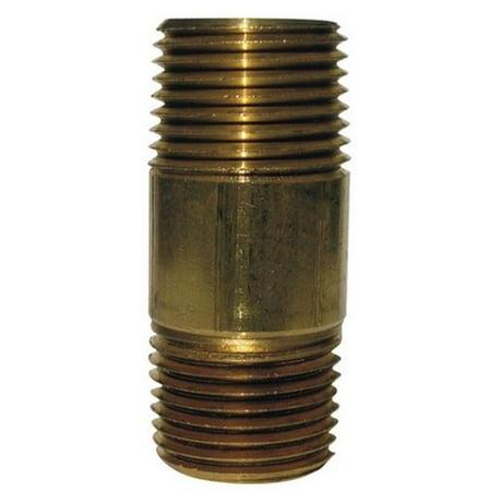0.12 x 2 in. Red Brass Bulk Nipple - image 1 of 1