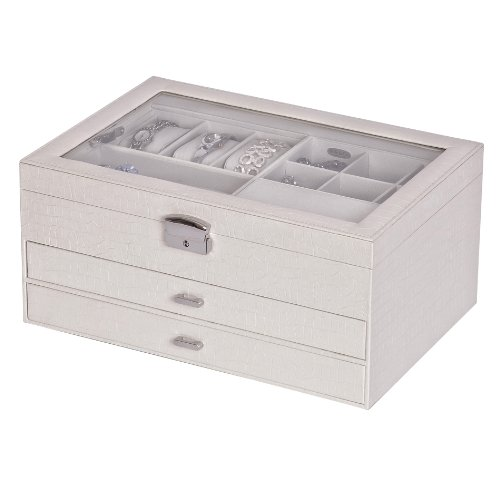 Windowed Jewelry Box in Snow White Walmartcom