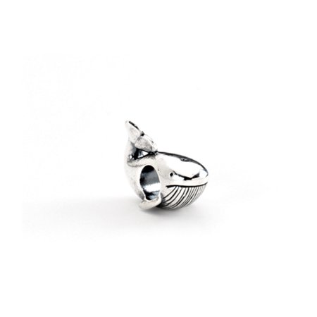 Whale Charm in Silver for 3mm Charm Bracelets