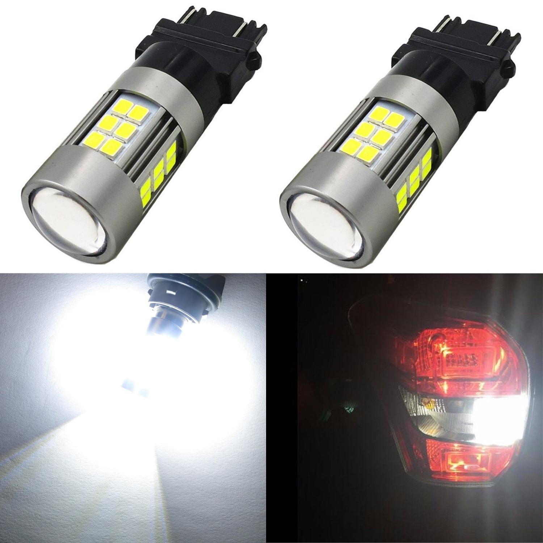 Alla Lighting T25 3156 4114 3157 White LED Bulbs Super Bright 6000K Xenon 3156 3057 3157 LED Bulbs for Cars Trucks SUVs Turn Signal Brake Stop Back-up Reverse Light DRL (Set of 2)