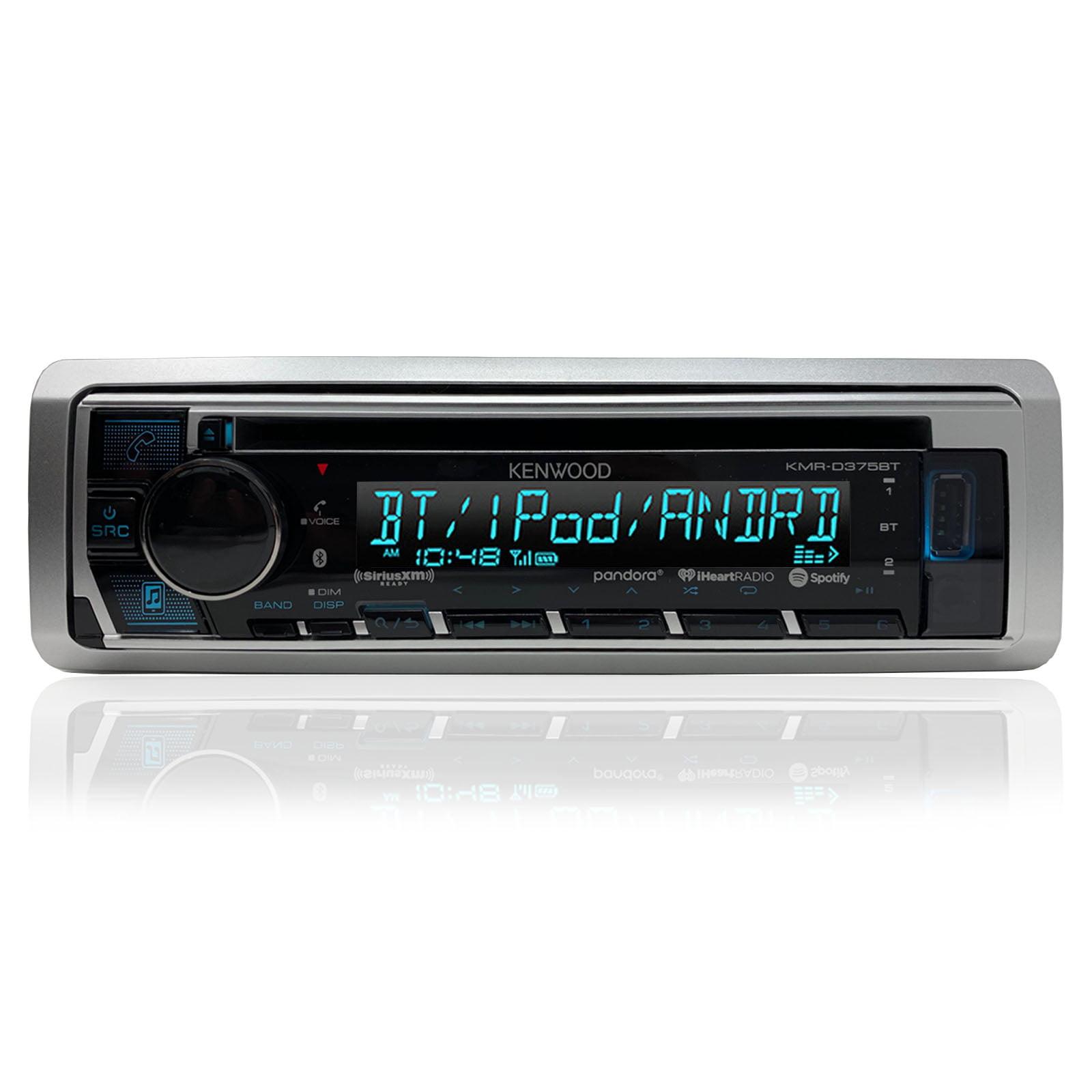 Speaker and Amp Kit Kenwood Bluetooth//CD Radio,Harley FLHT Install Adapter Kit