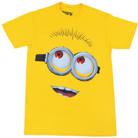 Despicable Me Minion Face Adult T-Shirt - Minion Outfits For Adults
