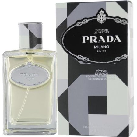 Prada 6096187 Infusion De Vetiver By Prada Edt Spray 3.4 Oz Launched by the design house of Prada in 2010, PRADA INFUSION DE VETIVER by Prada for Men posesses a blend of: Tarragon, Pepper, And Ginger. It is recommended for daytime wear.