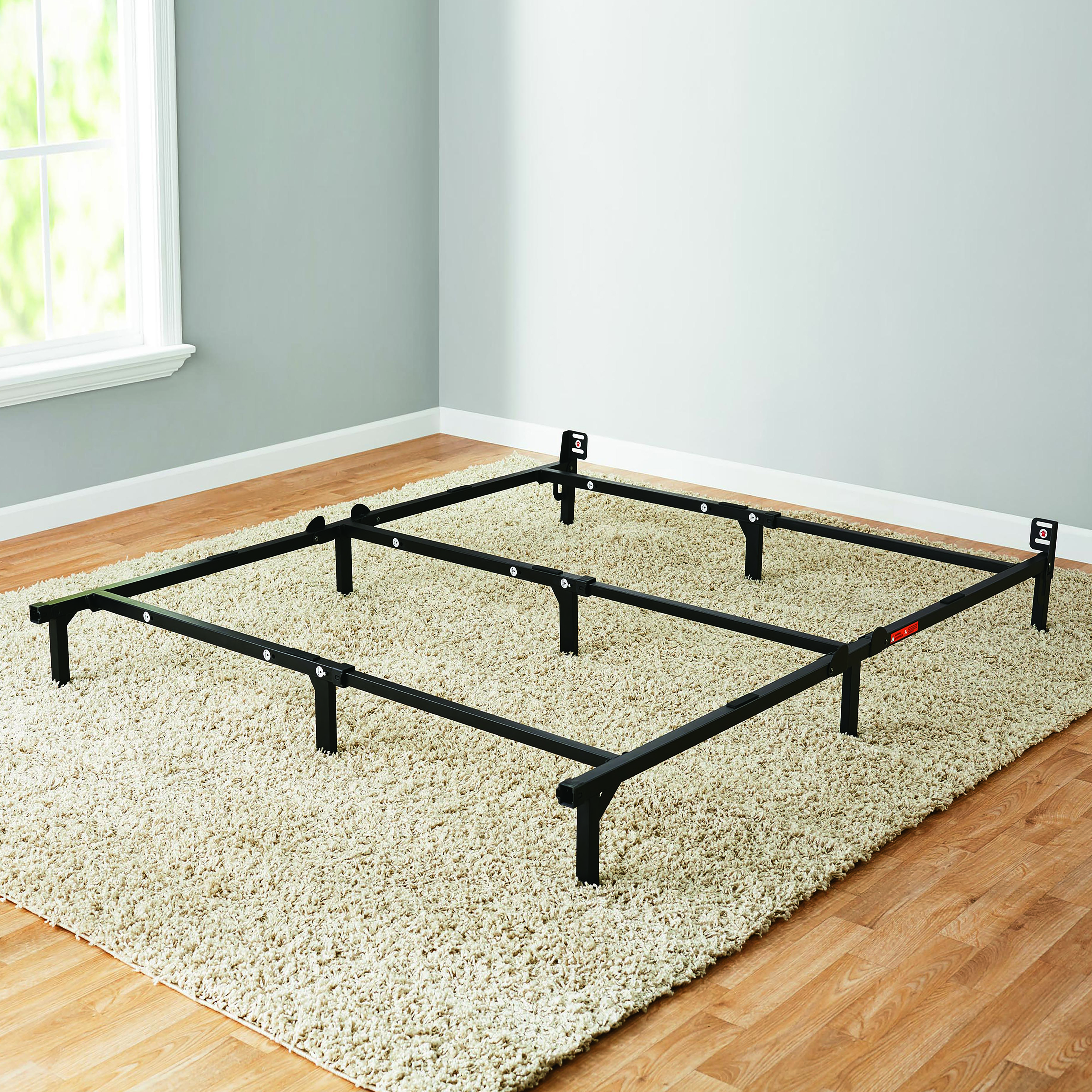 "Mainstays 7"" Adjustable Metal Bed Frame, Easy No-Tools Assembly, Twin/Full/Queen"