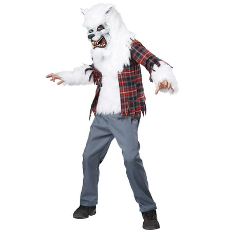 Howling at the Moon Child Costume (White) - White Costume