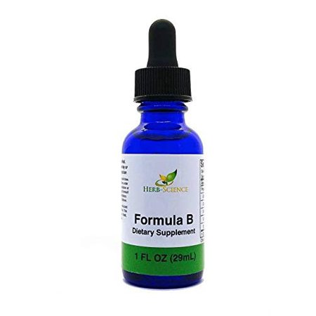 Formula B - Brain Function Support, Developing Minds Herbal Supplement for Memory, Focus and Clarity, Specially Designed for Children & Teens, Alcohol-Free Liquid Extract - Herb-Science
