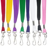PinMart's Solid Color Tube Lanyard Neck Ribbons - Select Your Qty and Color!