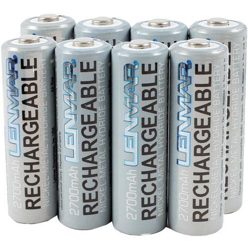 Lenmar AA 2700mAh Ni-MH Batteries, 8-Pack
