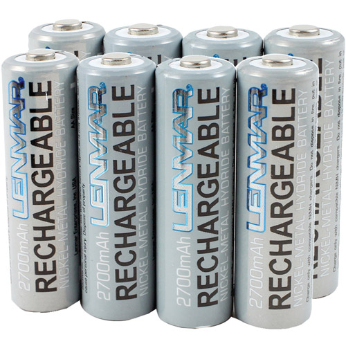 Lenmar AA 2700mAh Ni-MH Batteries, 8-Pack