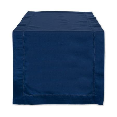 DII Nautical Blue Hemstitch Table Runner, 108