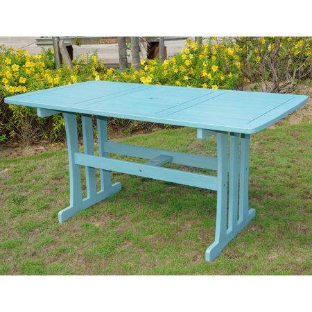 Royal Tahiti Acacia Rectangular Patio Dining Table
