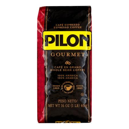Pilon Gourmet Whole Bean Espresso Coffee, 16 Oz - Gourmet Whole Bean