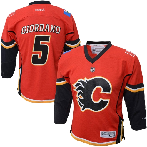 Mark Giordano Calgary Flames Reebok Youth Replica Player Hockey Jersey Red L XL by Outerstuff