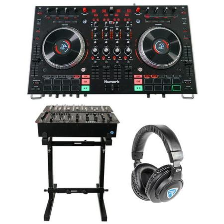 Numark NS6II 4-Ch DJ Controller+LCD Display+Serato DJ  Software+Stand+Headphones