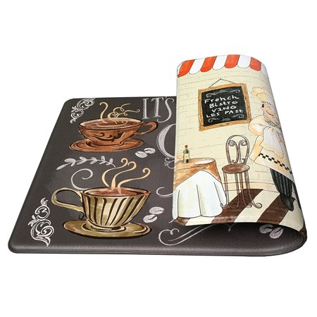 Premium Reversible Memory Foam Kitchen Mat Anti-Fatigue Chef Mat, 18
