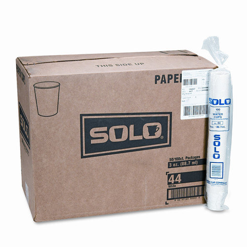 Solo Cups Company Paper Water Cups, 3 Oz., 50 Bags of 100/Carton