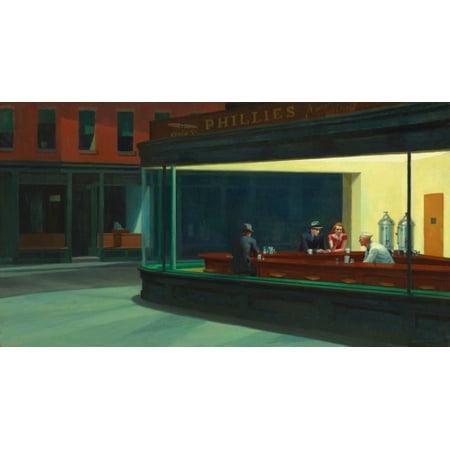Nighthawks Poster Print by Edward Hopper (8 x (Nighthawks Hopper)