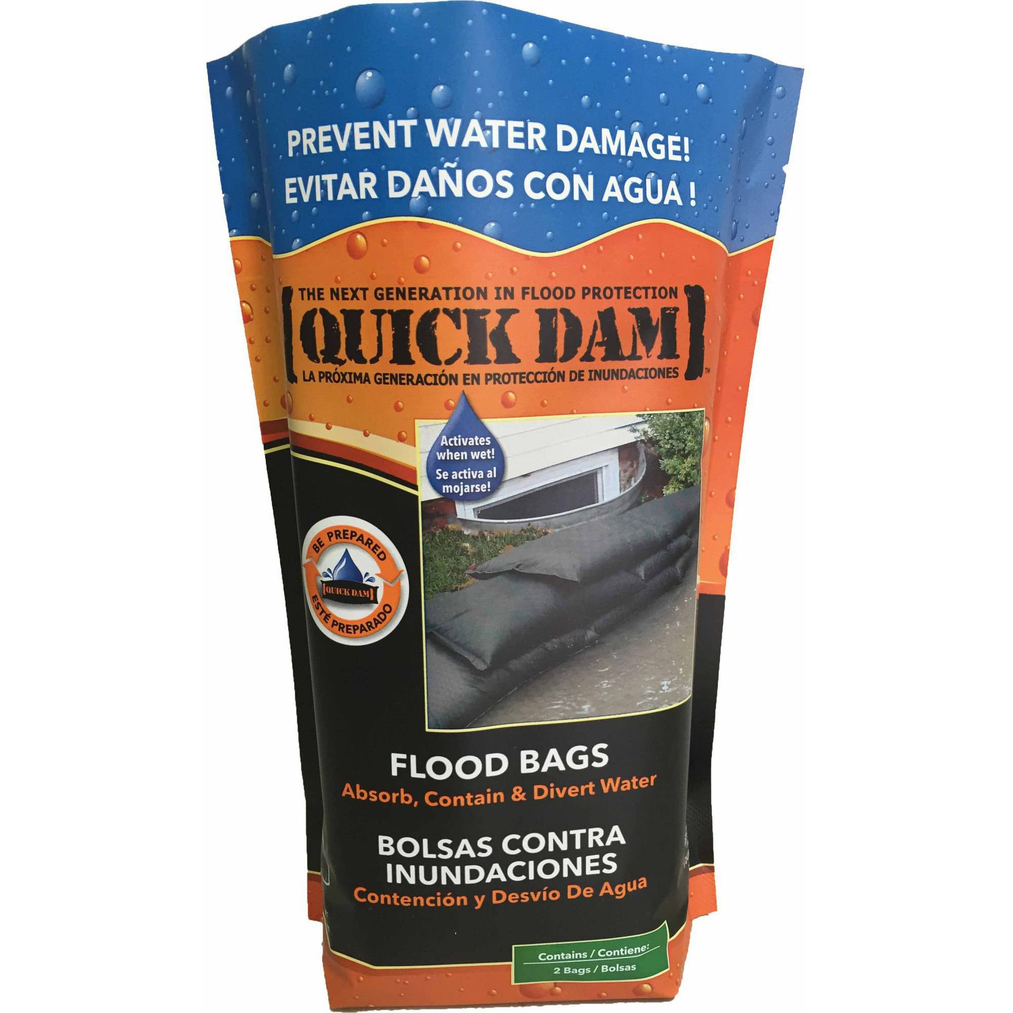 Quick Dam Flood Bags, 2pk