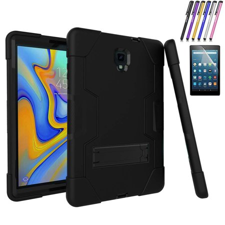 Windrew Galaxy Tab A 10.5 2018 Case,[Heavy Duty] Rugged Hybrid Protective Case with Build in Kickstand for Samsung Galaxy Tab A 10.5 inch SM-T590/ (Keyboard For Galaxy Tab 2 7 Inch)