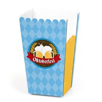 Oktoberfest - German Beer Festival Favor Popcorn Treat Boxes - Set of 12