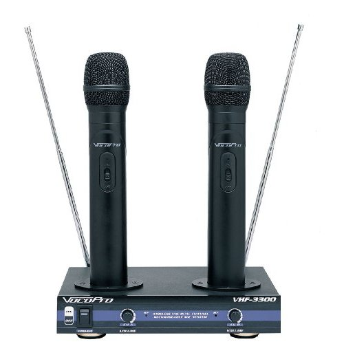 VocoPro VHF3300 Dual Wireless Handheld Microphone System