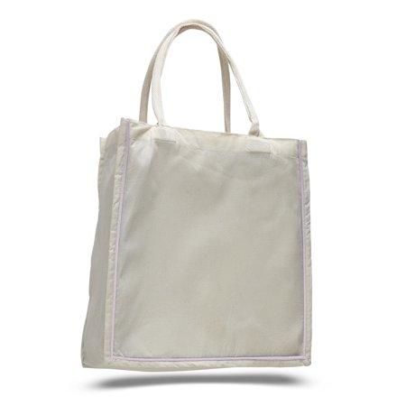 Set of 3 - Wholesale Cotton Fancy Shopper Color Stripe Tote Bag