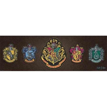 Harry Potter - Mini Door Movie Poster / Print (Hogwarts House Crets) (Size: 36