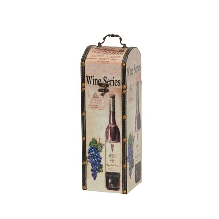 - Household Essentials Decorative Wine Caddy, Gift Box Dcor