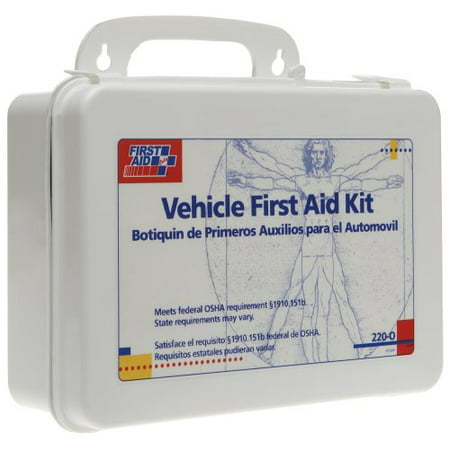 First Aid Only 220 O 25 Person Vehicle First Aid Kit  Plastic Case