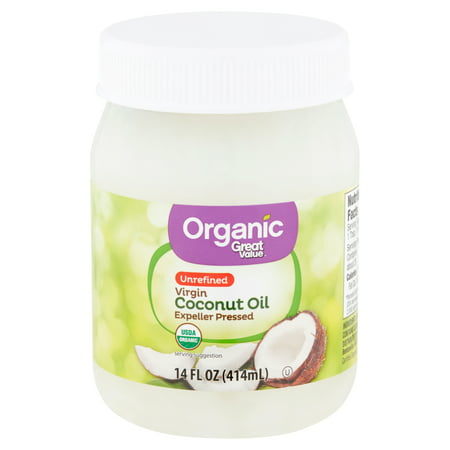 Great Value Organic Unrefined Virgin Coconut Oil, 14 fl (Best Way To Add Coconut Oil To Diet)