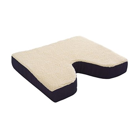 Essential Medical Supply Fleece Covered Coccyx Foam Seating Cushion 16