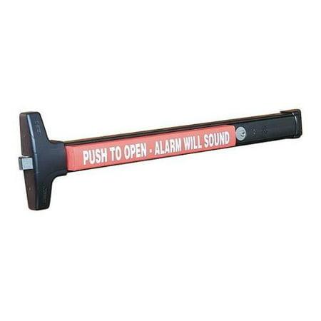 DETEX V40 EB CD 711 99 36 Rim Exit Device with Alarm, Black Paint