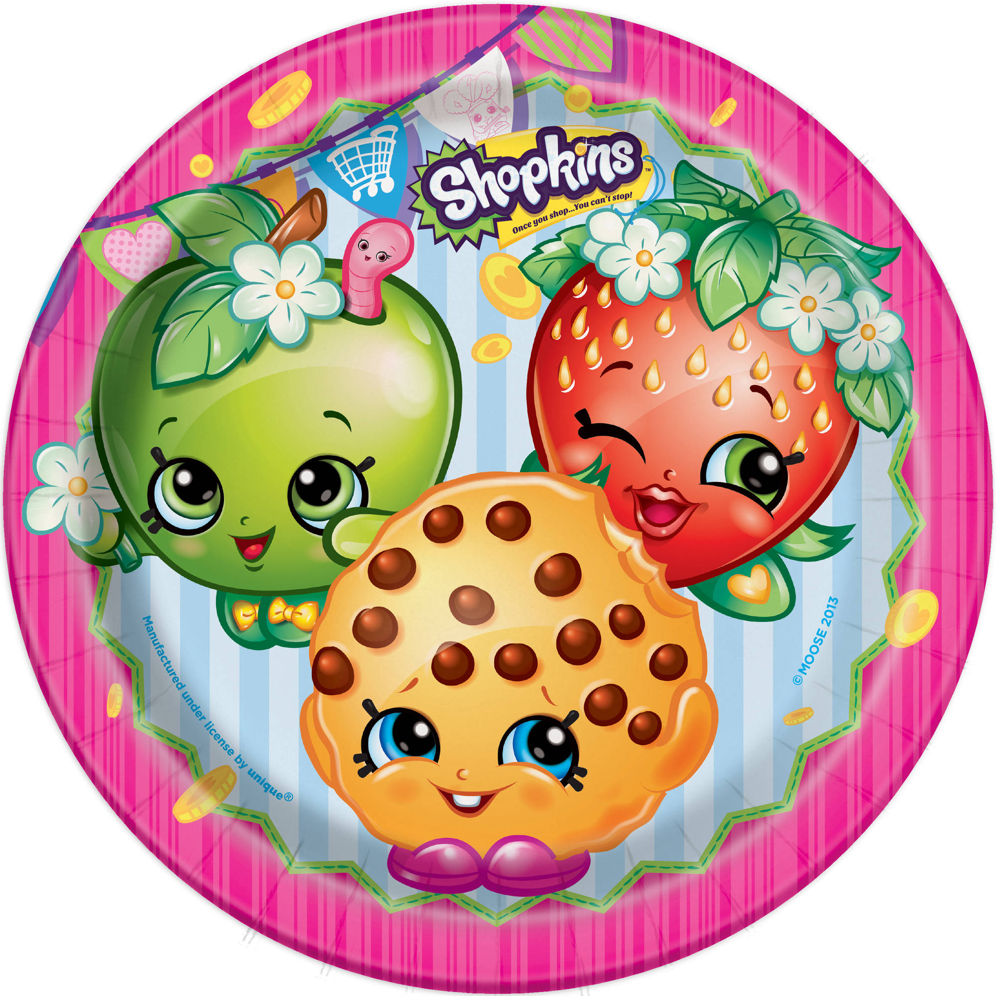"9"" Shopkins Party Plates, 8ct"