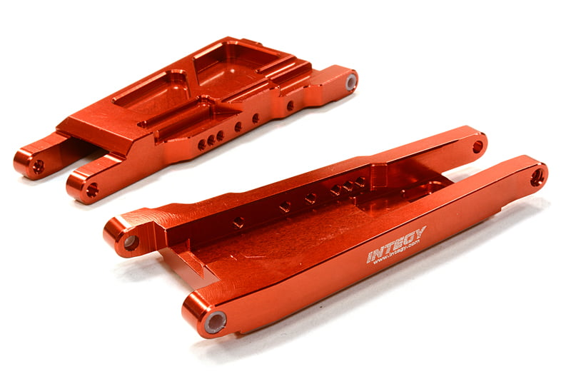 Integy RC Toy Model Hop-ups C26521RED Billet Machined Lower Suspension Arm (2) for Traxxas... by Integy