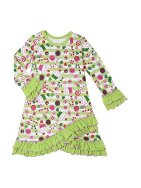 Sara's Prints Girls' Puffed Sleeve Nightgown, Quatrefoil, Size: 3