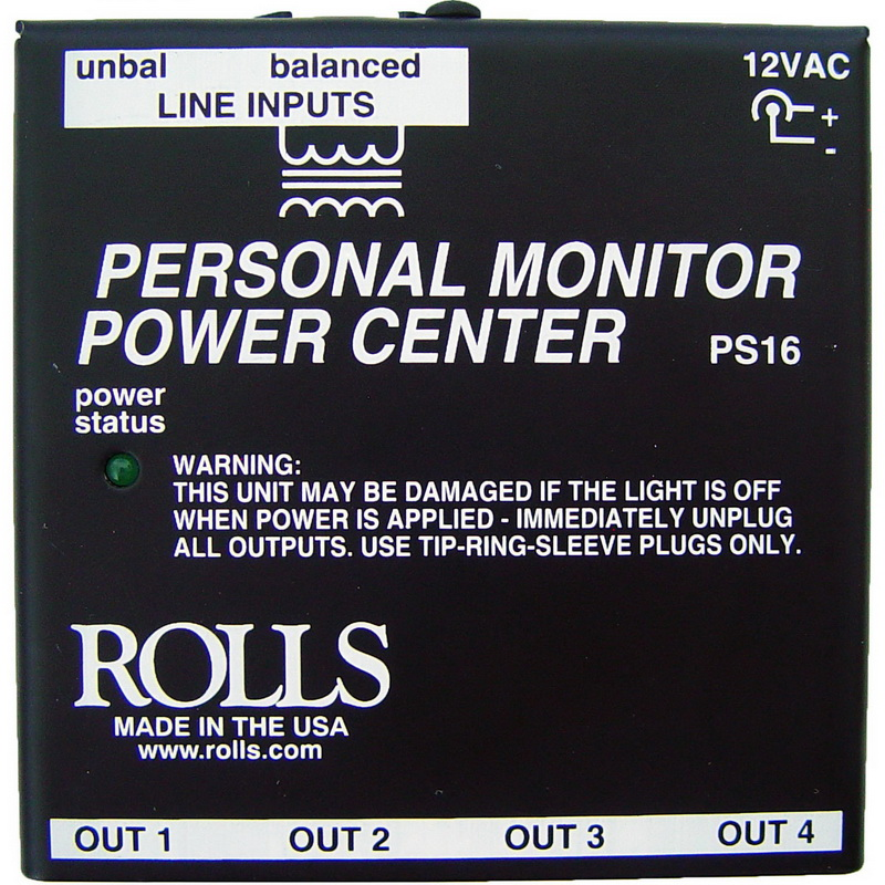 Rolls PS16 Power Center for Multiple PM Series Monitor Stations