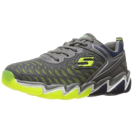 Skechers Kids Boys  Skech Air 3.0 Downplay Sneaker Charcoal/Lime 12.5 M US Little Kid