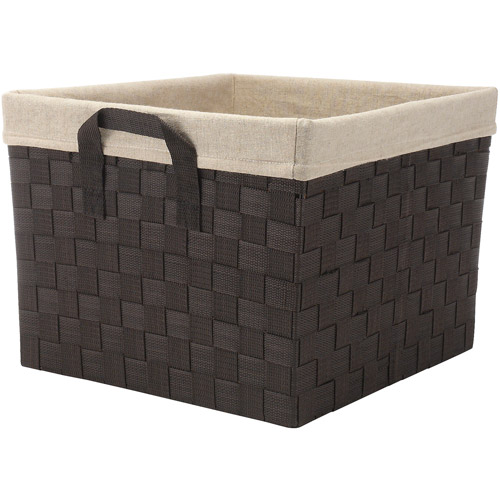 Whitmor Storage Tote with Liner Espresso
