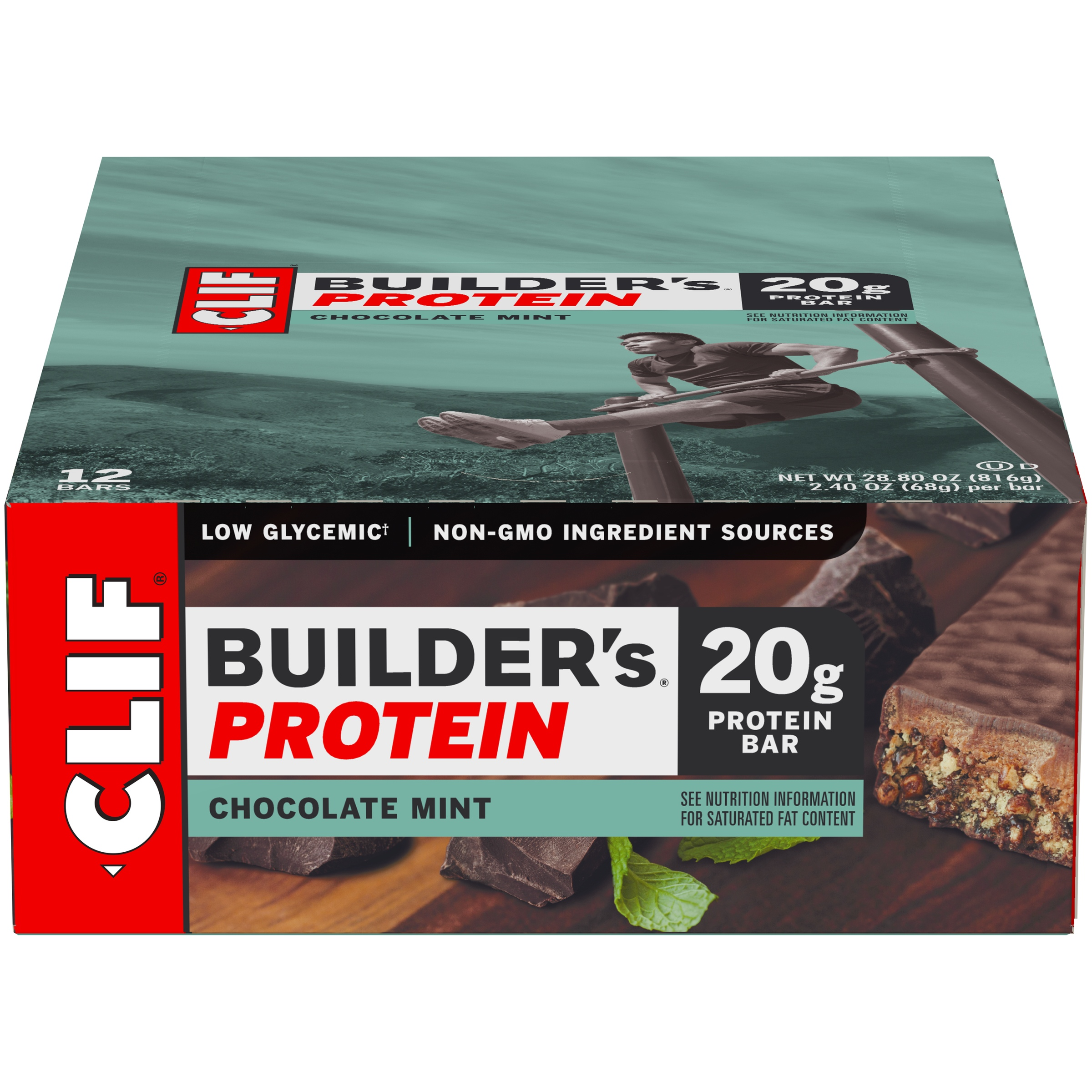 Clif® Builder's® Chocolate Mint Protein Bar 12-2.4 oz. Bars