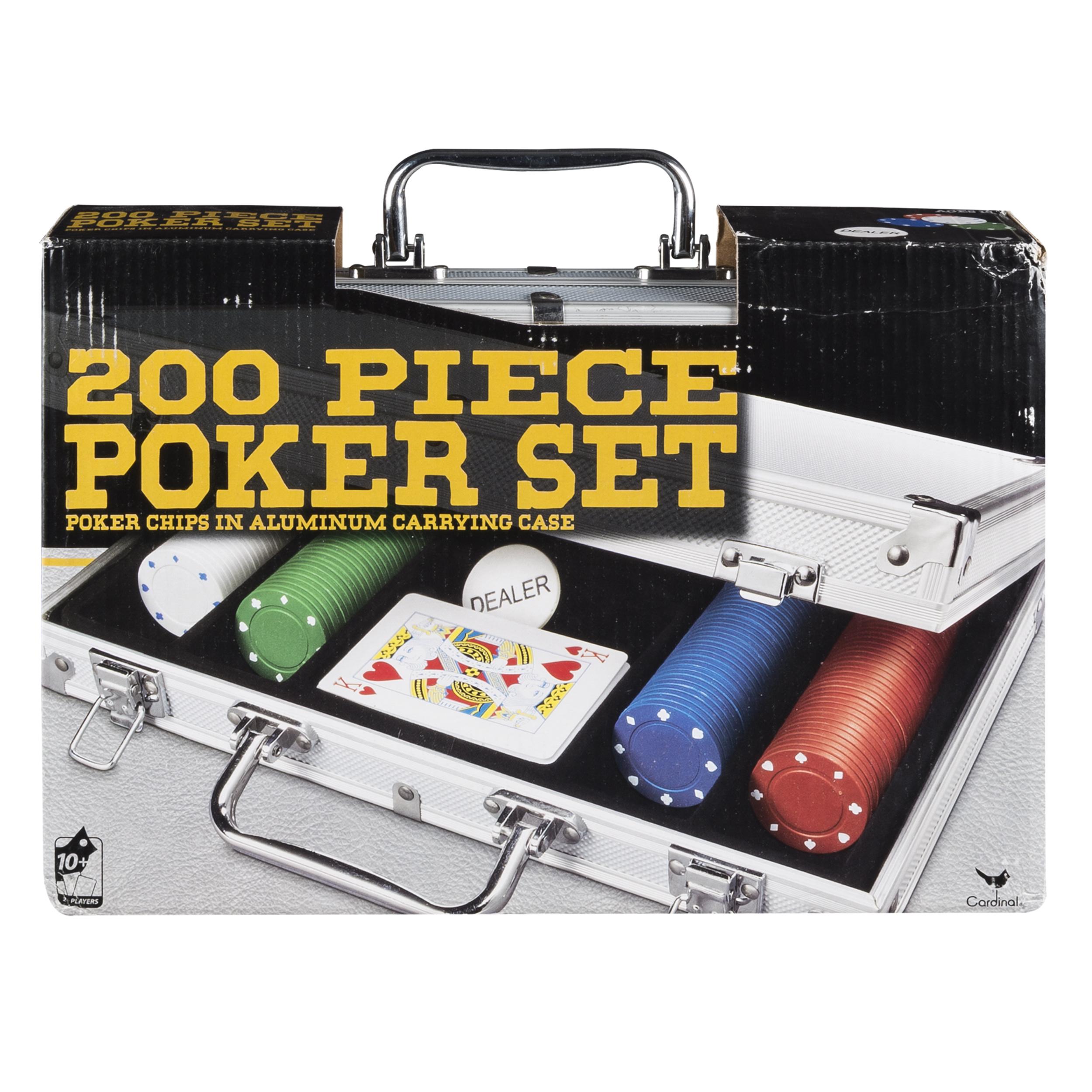 200-piece Poker Set in Aluminum Storage Case