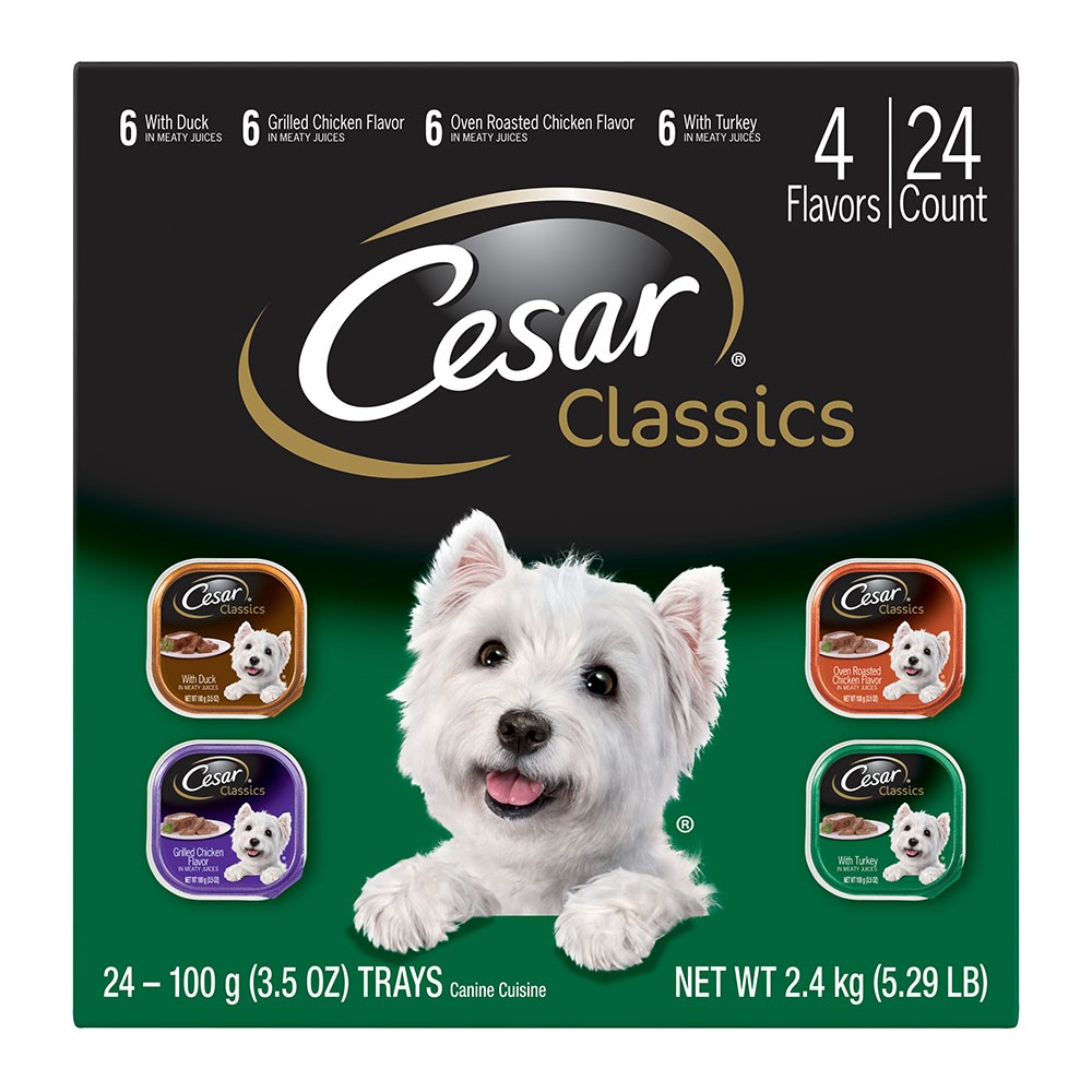 Cesar Classics Variety Pack Wet Dog Food, 3.5 Oz, 24 Pk